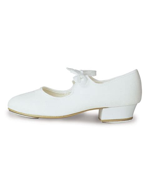 roch valley white canvas tap shoe