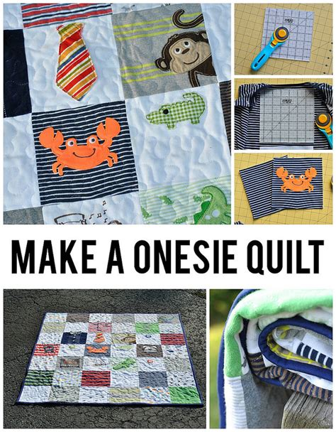 How To Make A Quilt Out Of Baby Clothes by Make A Baby Onesie Quilt Craft Buds