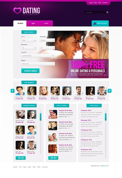 dating website template 39365