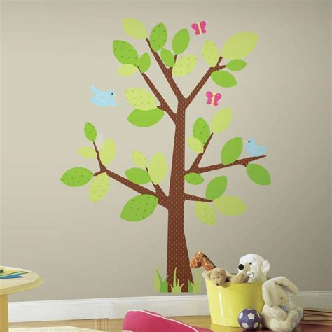 peel and stick wall decals kids tree peel and stick giant wall decal