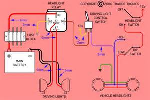 headlight and driving light wiring diagrams patrol 4x4 nissan patrol forum