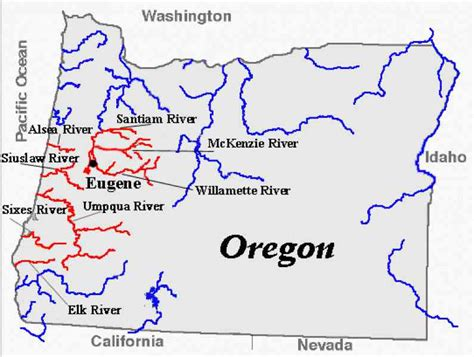 map of oregon rivers map of rivers in oregon map travel