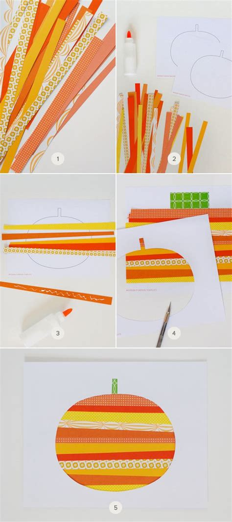 paper strips craft 25 best ideas about pumpkin on