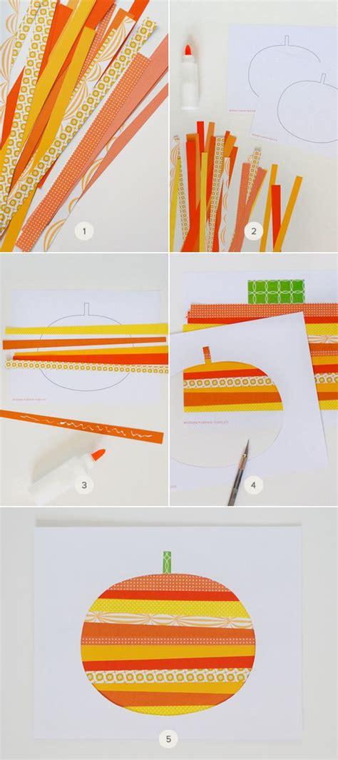 paper strips crafts 25 best ideas about pumpkin on