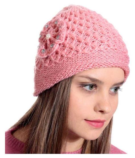 toppers for women snapdeal tahiro peach woolen cap for women pack of 1 buy online
