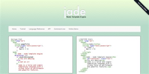 jade template engine 15 javascript template engines for front end development