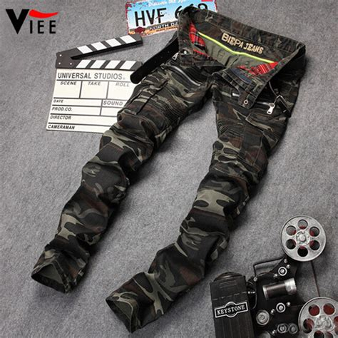 15 new biker moto jeans for men the jeans blog new mens camouflage jeans motocycle camo military slim fit