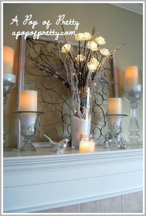 mantel decor my simple winter mantel lighted branches epsom salt and urn winter mantel decor my mantel decorated for winter a