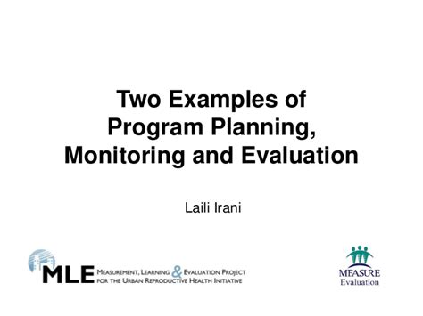 monitoring and evaluation policy template two exles of program planning monitoring and evaluation