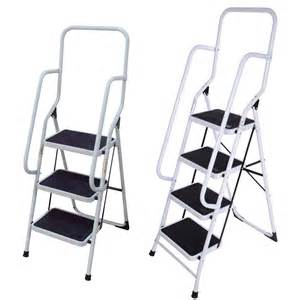 2 step ladder with handrail foldable non slip 2 3 4 step steel ladder tread stepladder