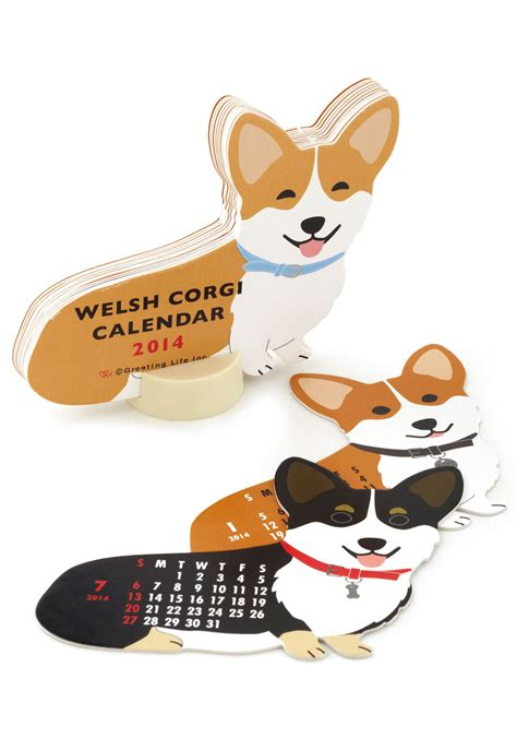 corgi desk calendar year of the critter 2014 calendar in corgi mod retro