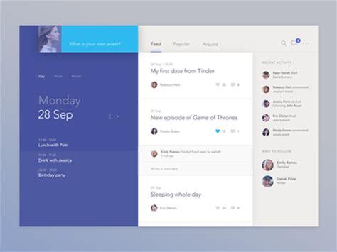 desktop application layout design social calendar app by jakub antal 237 k dribbble