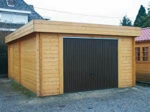 garage bois toit plat garage toit plat avec abris vehicule