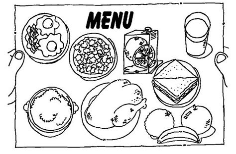 menu free coloring pages coloring pages