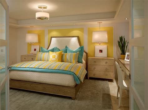 Yellow Bedroom Designs by Yellow And Blue Interiors Living Rooms Bedrooms Kitchens