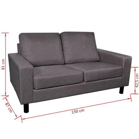 divani due posti divano a due posti grigio scuro vidaxl it
