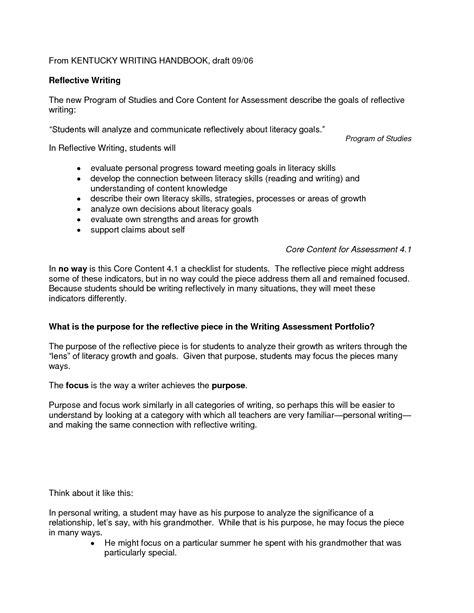 sles of reflective essays for nurses sle of reflective essay in nursing resume cv cover letter