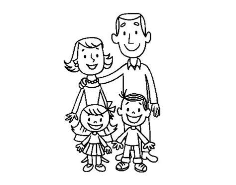 juegos de familia para colorear imprimir y pintar dibujo de una familia para colorear dibujos net
