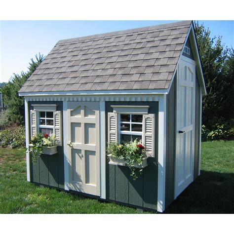 backyard playhouse kits suncast 174 8 x 6 backyard cottage playhouse with front
