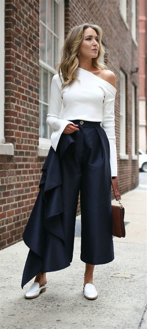 43618 Navy Vogue Cullotes 100 ideas to try about fashion milan fashion weeks ton and stockholm style