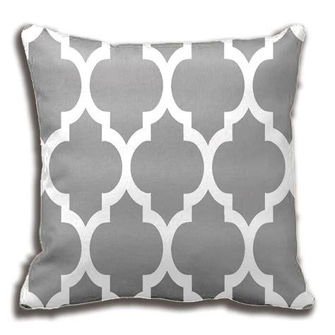grey patterned throws dark grey white moroccan quatrefoil pattern throw pillow