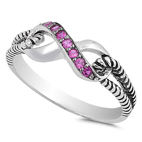 infinity ring silver infinity ring new 925 sterling silver rope band ebay