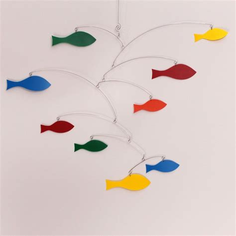 arte mobili buy a custom made rainbow mobile school of fish kinetic