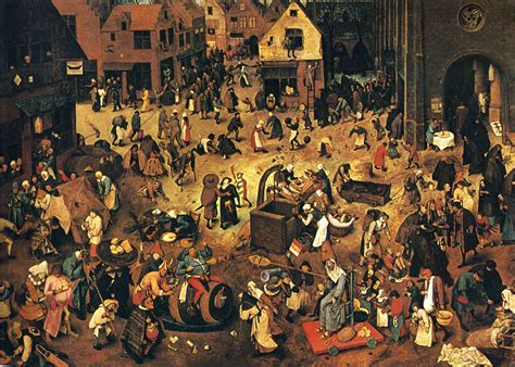 the bruegels lives and the fight between carnival and lent 1559 pieter bruegel the elder wikiart org