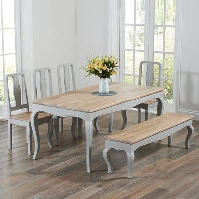 gray dining table with bench seville grey painted distressed dining table with 4 chairs