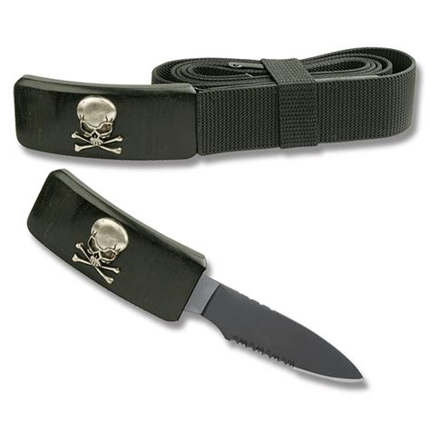 buckle knives adjustable belt with skull and crossbones buckle