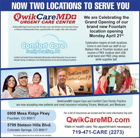 comfort care family practice qwikcaremd new fountain location colorado springs