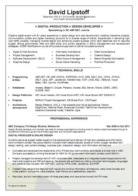 Resume Template Australia by The Australian Employment Guide