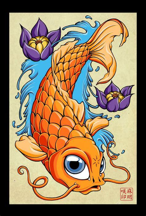 tattoo pez koi naranja pez koi by abrahamgart deviantart com on deviantart