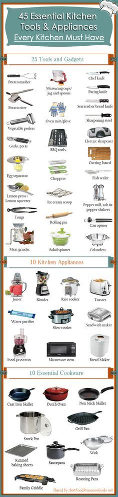 essential household appliances essential kitchen tools for easier meal preparation