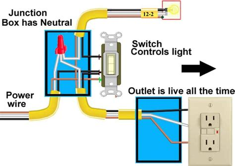 how to wire a light switch and receptacle together
