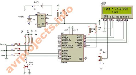 ds1307 circuit diagram ds1307 circuit diagram circuit and schematics diagram