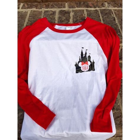 design a shirt disney disney magic kingdom castle minnie mouse raglan shirt red