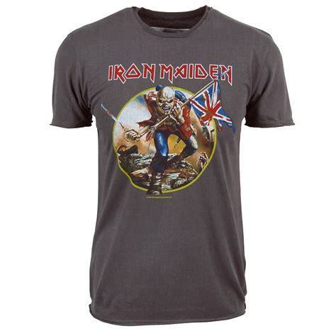 Tshirt Iron Maiden 2 lified mens iron maiden trooper t shirt charcoal