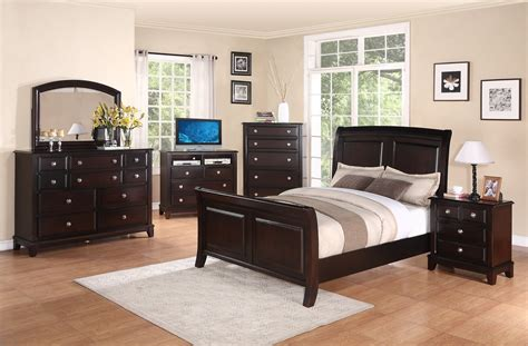 Cappuccino Bedroom Furniture by Furniture G9800 4 Bedroom Set In Cappuccino