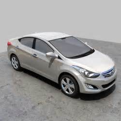 Hyundai 2012 Models Hyundai Elantra 2012 China 3d Model Max Obj Fbx