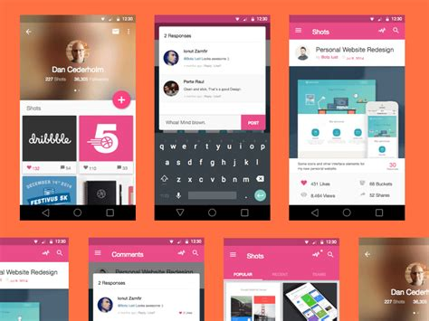 design app free download 15 free material design ui psd elements free premium