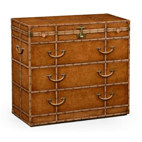 Trunk Style Chest Of Drawers by Travel Trunk Leather Chest Of Drawers Swanky Interiors