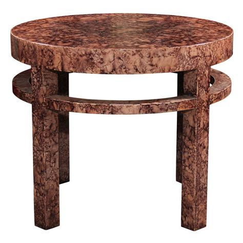 Henredon Side Table by Midcentury Henredon Faux Marble Side Table At 1stdibs