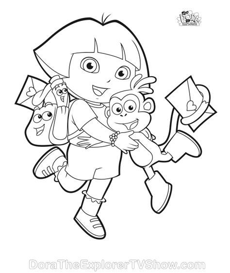 dora backpack coloring pages dora backpack coloring page az coloring pages