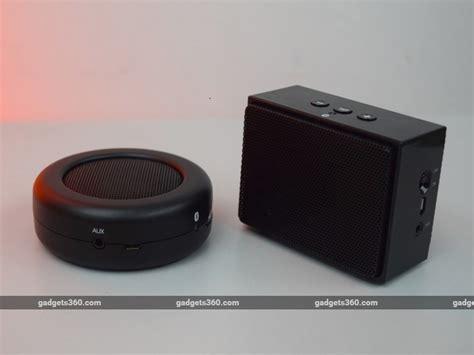 Speaker Mini Untuk Tv amazonbasics micro btv4 and amazonbasics mini btv2 bluetooth speaker review ndtv