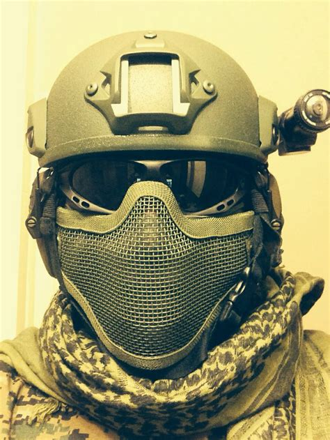 Helm Airsoft Gun airsoft helmet tactical goggles mesh mask and ghost