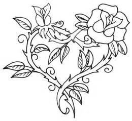 Tatouage coeur et rose tatoo pinterest coloration tatouages d