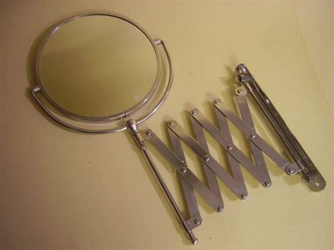 extendable magnifying bathroom mirror vintage bath wall magnifying extendable scissor shaving 7