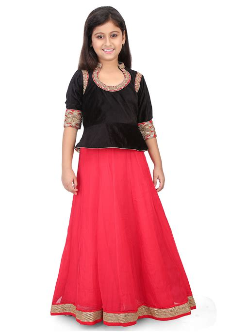 Embroidered Velvet Top embroidered velvet top with skirt in black unj776