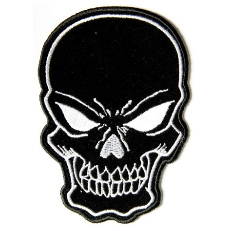 Black Patches black skull patch small